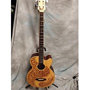Luna Guitars HENNA PARADISE BASS Acoustic Bass Guitar