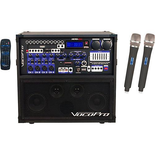 VocoPro HERO-REC UHF Multi-Format Portable PA Karaoke System with Digital Recorder & UHF Wireless System-thumbnail