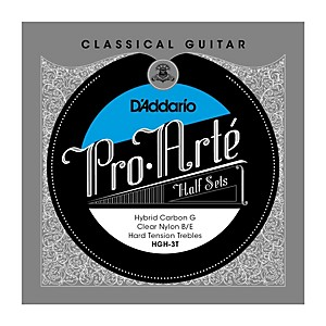 Daddario HGH-3T Pro-Arte Hard Tension Classical Guitar Strings Half Set