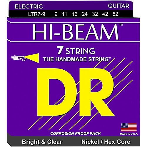 DR Strings HI-BEAM Nickel Plated 7-String Electric Guitar Strings Lite (9-52)-thumbnail