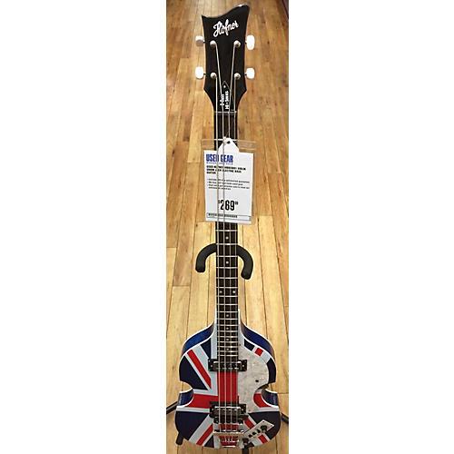 Hofner HIBBSBO1 Violin Union Jack Electric Bass Guitar