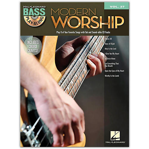 Hal Leonard HLP HL 00701920 MOD WORSHIP BASS PLAY ALONG BOOK AND CD