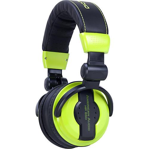 American Audio HP550 Professional Studio Headphones Lime