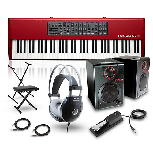 Nord HP73 with RPM3 Monitors, Headphones, Bench, Stand, and Sustain Pedal-thumbnail