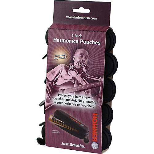 Hohner HPN5 Harmonica Pouch 5-Pack