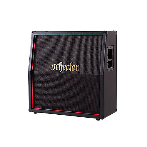 Schecter Guitar Research HR412-SL Hellraiser USA 4x12 Slant Guitar Speaker Cabinet Black