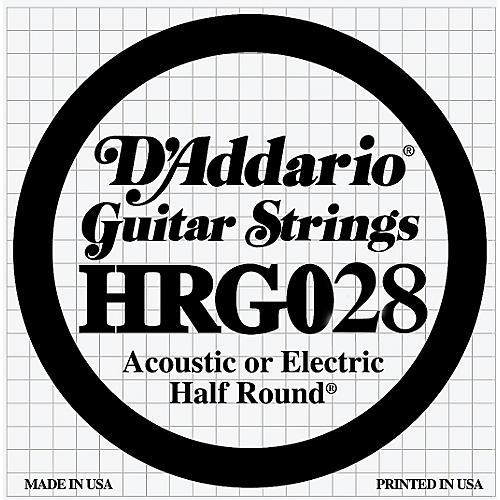 D'Addario HRG028 Half Round Electric Guitar String