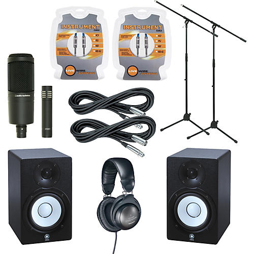 Yamaha HS50M Monitor and A/T Mic Package-thumbnail