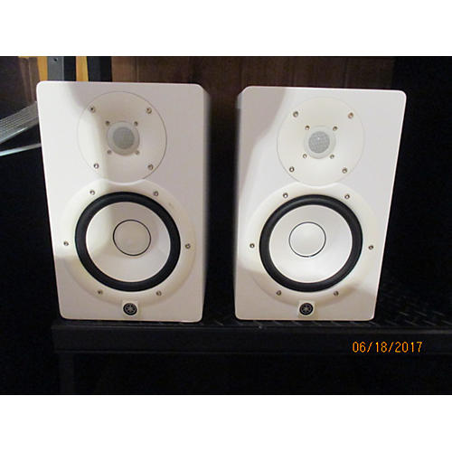 used yamaha hs7 pair white powered monitor guitar center. Black Bedroom Furniture Sets. Home Design Ideas