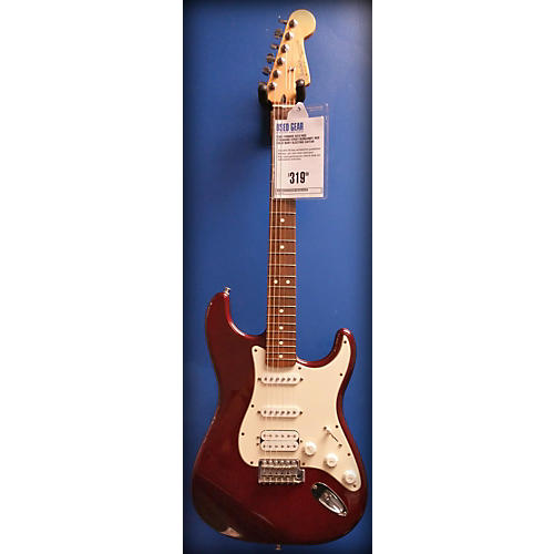 Fender HSS Standard Strat Burgundy Red Solid Body Electric Guitar-thumbnail