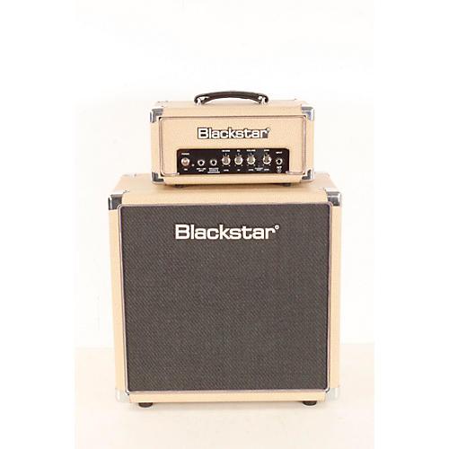 blemished blackstar ht 1r mini stack 1w tube guitar head with ht 112 1x12 speaker cabinet tan. Black Bedroom Furniture Sets. Home Design Ideas