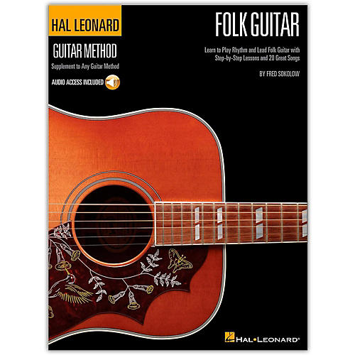 Hal Leonard Hal Leoanrd Folk Guitar Method - Learn to Play Rhythm and Lead Folk Guitar (Book/Online Audio)-thumbnail