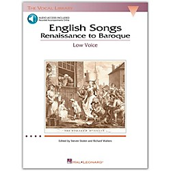 Hal Leonard English Songs (Renaissance To Baroque) For Low Voice Book/2CD's (The Vocal Library Series) (740180)