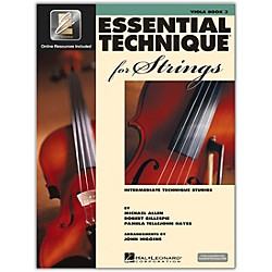 Hal Leonard Essential Technique 2000 For Strings Viola Book 3 Book/CD (868075)