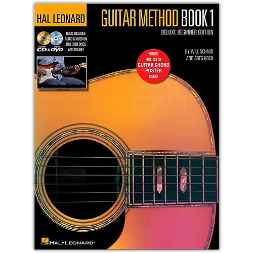 Hal Leonard Hal Leonard Guitar Method Book 1 Deluxe Beginner Edition (Book/DVD/Online Audio/Poster)-thumbnail