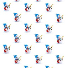 Hal Leonard Hal Leonard Holiday Snowman Premium Gift Wrapping Paper