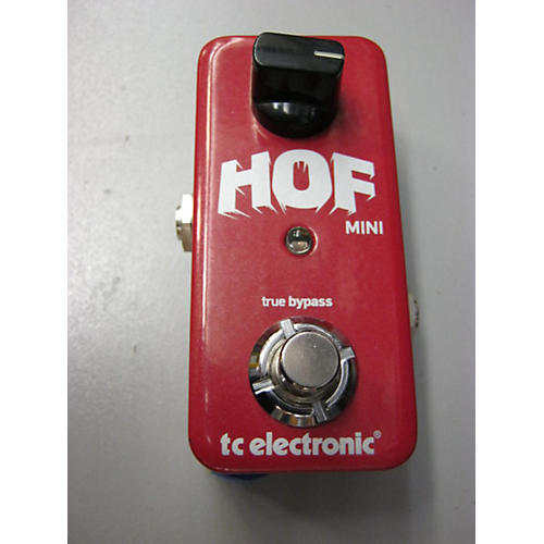 TC Electronic Hall Of Fame Mini Reverb Candy Apple Red Effect Pedal-thumbnail