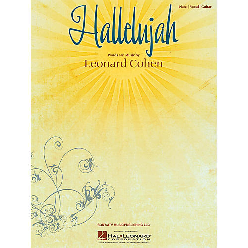 Hal Leonard Hallelujah by Leonard Cohen arranged for piano, vocal and guitar