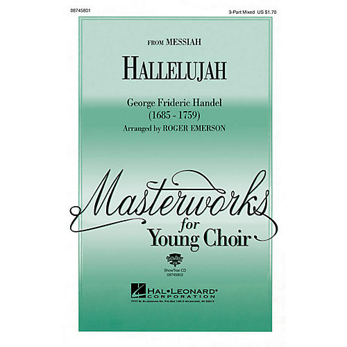 Hal Leonard Hallelujah (from Messiah) ShowTrax CD Arranged by Roger Emerson