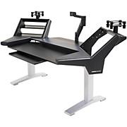 Argosy Halo Keyboard Ultimate-Halo K,2 Shelves,Pr. Spkr Platforms,Qwerty Keyboard tray,Monitor Arm (13.5-44lbs) w/rail