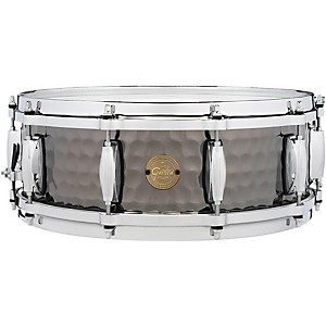 Gretsch Drums Hammered Black Steel Snare by Gretsch Drums