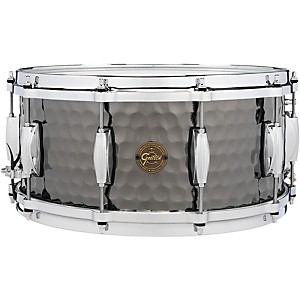 Gretsch Drums Hammered Black Steel Snare by Gretsch Drums