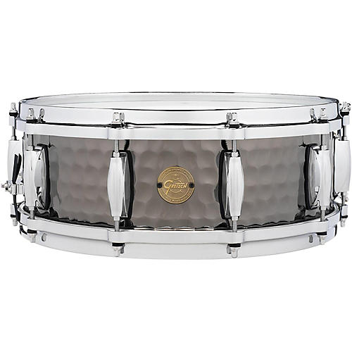 Gretsch Drums Hammered Black Steel Snare-thumbnail