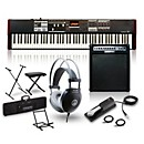 Hammond SK1-88 88-Key Pro Digital Keyboard/Organ with Keyboard Amp, Stand, Headphones, Bench & Sustain Pedal (SK188STAND PKG)