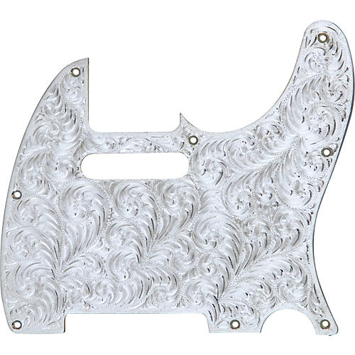 El Dorado Hand-Engraved Metal Tele Electric Guitar Pickguard