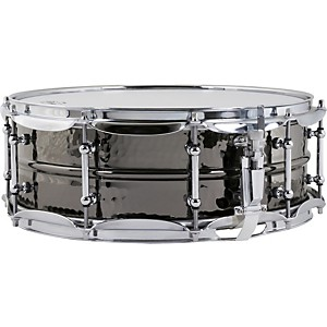 Ludwig Hand Hammered Black Beauty Snare Drum with Imperial Lugs
