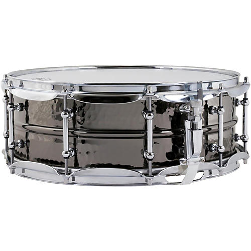 Ludwig Hand Hammered Black Beauty Snare Drum with Tube Style Lugs 14 x 5 in.