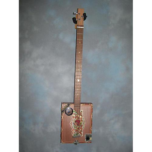In Store Used Hand Made Cigar Box Guitar Resonator Guitar-thumbnail