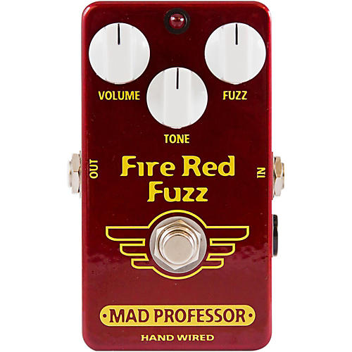 Mad Professor Hand Wired Fire Red Fuzz Guitar Effects Pedal-thumbnail