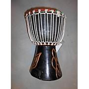 Ghana Handmade Black Design Djembe