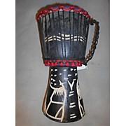 Ghana Handmade Black Tree Djembe