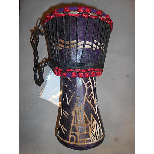 Swart Handmade Purple Leaves Djembe