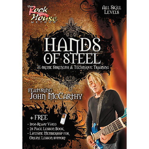 Hal Leonard Hands of Steel - X-Treme Strength & Technique Training, Featuring John McCarthy (DVD)-thumbnail