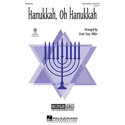 Hal Leonard Hanukkah, Oh Hanukkah (Discovery Level 1) 3-Part Mixed arranged by Cristi Cary Miller