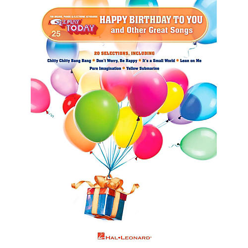 Hal Leonard Happy Birthday To You And Other Great Songs E-Z Play Today Volume 25-thumbnail
