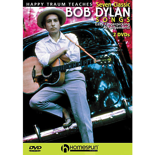 Homespun Happy Traum Teaches Seven Classic Bob Dylan Songs on Guitar 2 DVD Set