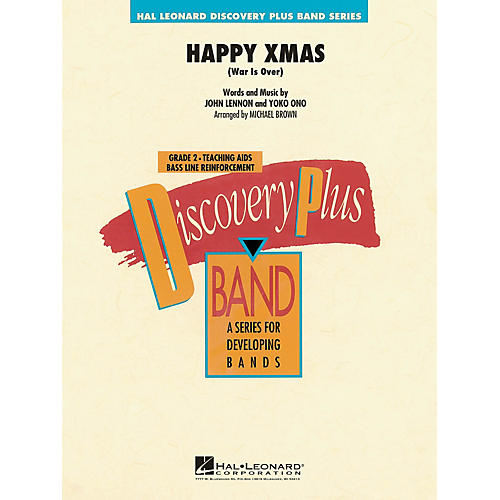 Hal Leonard Happy Xmas (War Is Over) - Discovery Plus Concert Band Series Level 2 arranged by Michael Brown