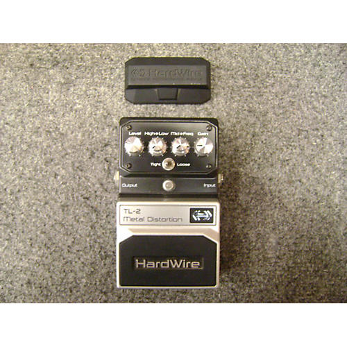 Digitech Hardwire Series TL-2 Metal Distortion Black And Silver Effect Pedal Black and Silver