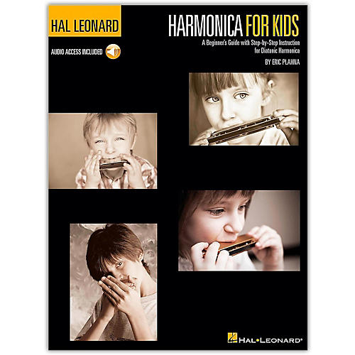 Hal Leonard Harmonica for Kids - A Beginner's Guide with Step-by-Step Instruction for Diatonic Harmonica (Book/Online Audio)-thumbnail