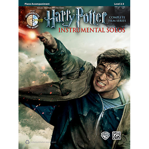 Alfred Harry Potter Instrumental Solos for Piano Accomanipment - Book/CD