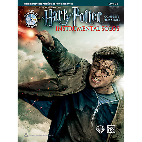Alfred Harry Potter Instrumental Solos for Strings - Viola (Book/CD)-thumbnail