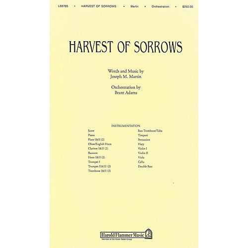 Shawnee Press Harvest of Sorrows Score & Parts composed by Joseph M. Martin
