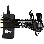 Vic Firth Headphone, Black Stick & Stickbag Giftpack