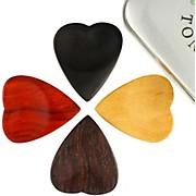 Timber Tones Heart Tones Mixed Tin of 4 Guitar Picks