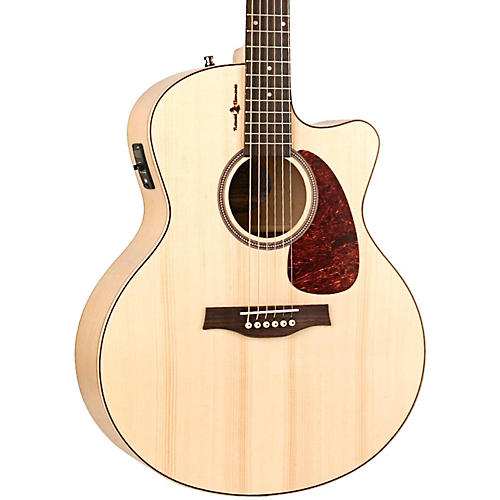 Seagull Heart of Wild Cherry CW Mini Jumbo SG Acoustic-Electric Guitar Natural