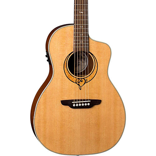 Luna Guitars Heartsong Parlor with USB Acoustic-Electric Guitar-thumbnail